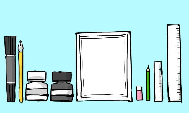 漫画を描く道具の一覧画像