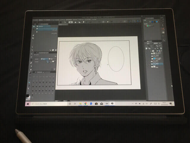 surface pro6で描いた絵
