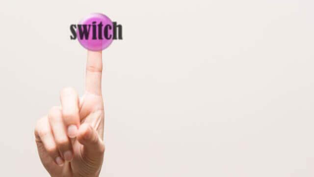 スイッチをおす